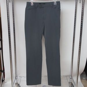Theory Slim Fit Navy Stone Blue Trousers